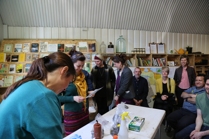 A group of people attending an event