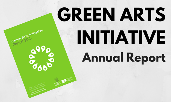 Green Arts Initiative Report Now Published!