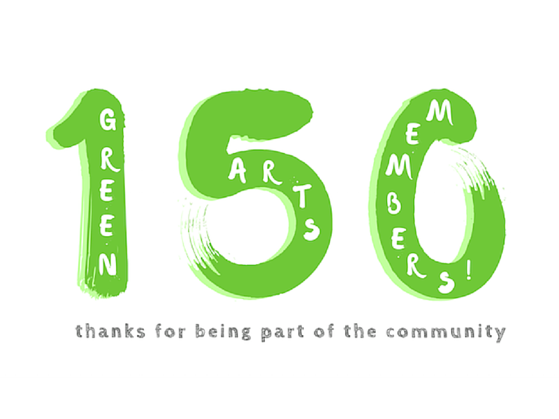 Green Arts Initiative reaches 150 Members!