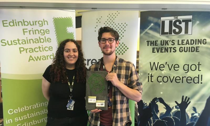 Winner Announced for Fringe Sustainable Practice Award 1