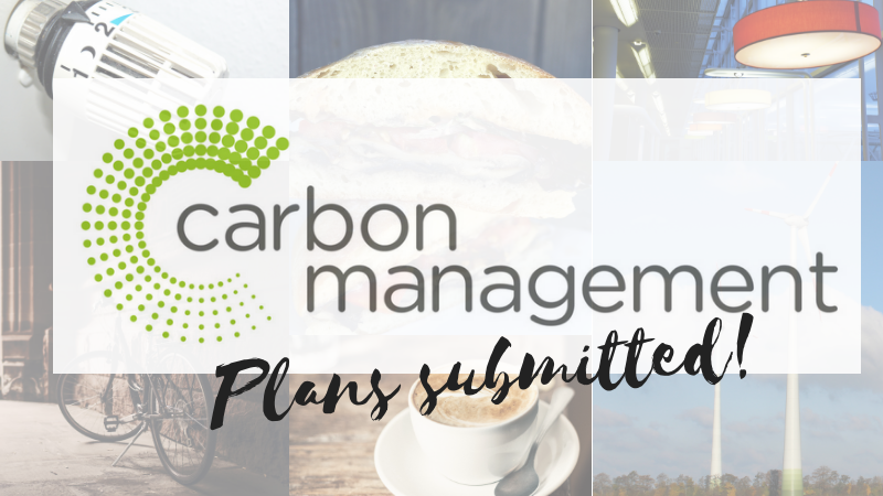 Carbon Management Plans submitted!