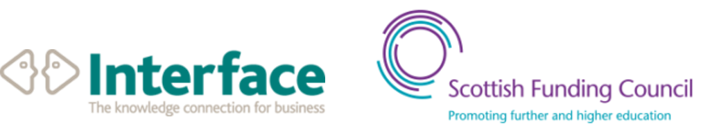 logos for Interface and Scottish Funding Council