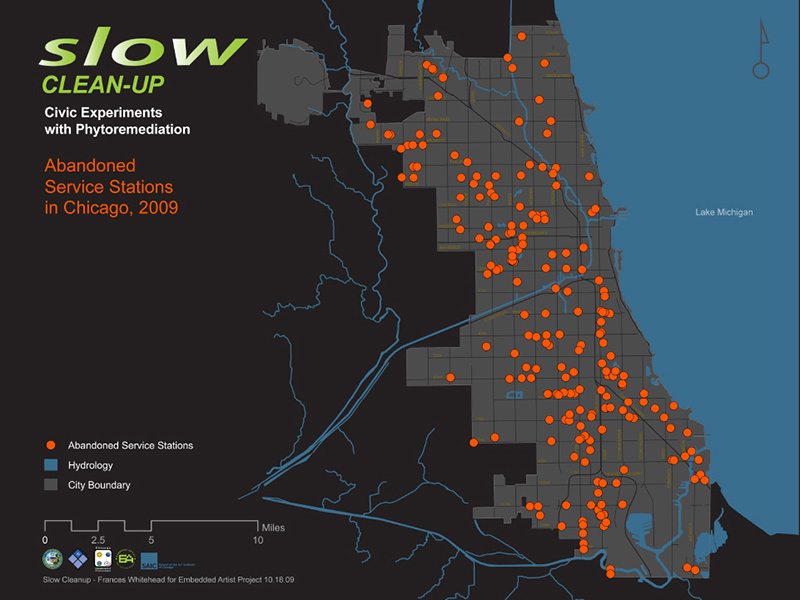 Slow Clean-Up Map of Abandoned Service Stations in Chicago, 2009