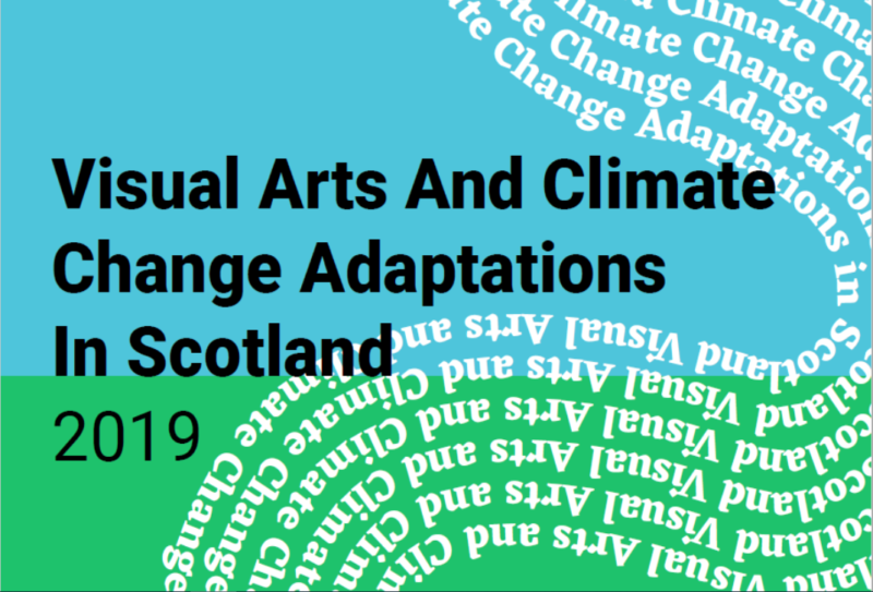 Visual Arts and Climate Change Adaptations in Scotland - Green and blue background