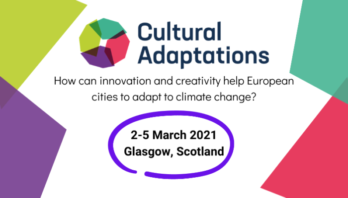 Graphic showing dates for Cultural Adaptations Conference, 2-5 March 2021