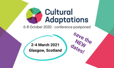 Graphic created in Canva showing the new dates for the Cultural Adaptations Conference