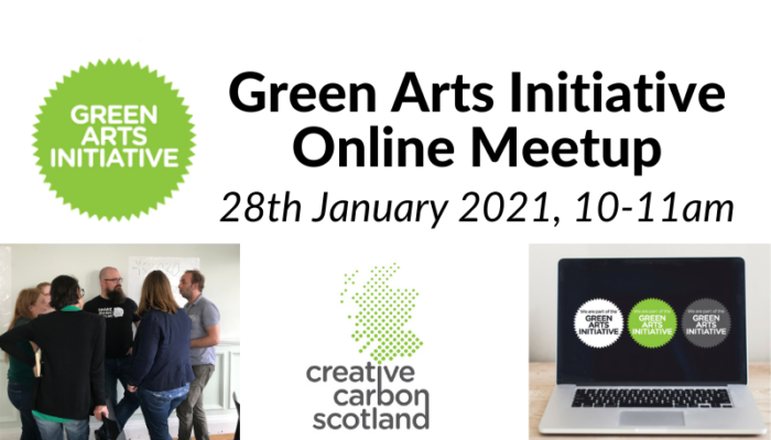 Green Arts Initiative January online meetup