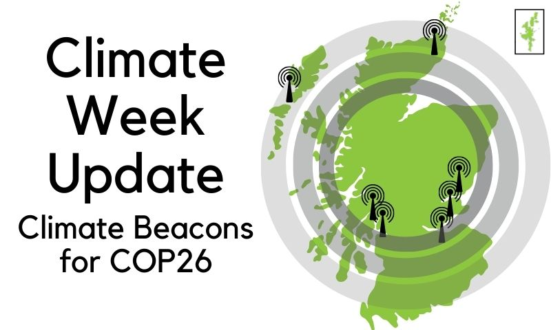 Climate Beacons for COP26: update for Climate Week 2021